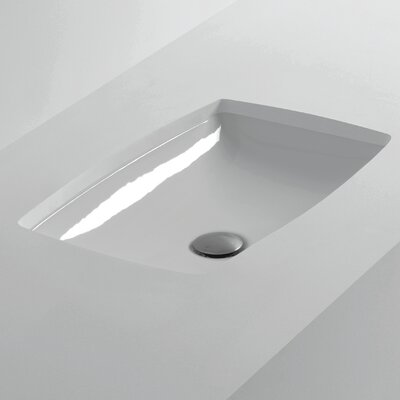 H10 Rectangular Undermount Bathroom Sink
