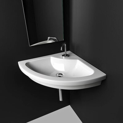 Kart Ceramic 22 Corner Bathroom Sink