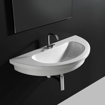 Kart Ceramic 34 Wall Mount Bathroom Sink