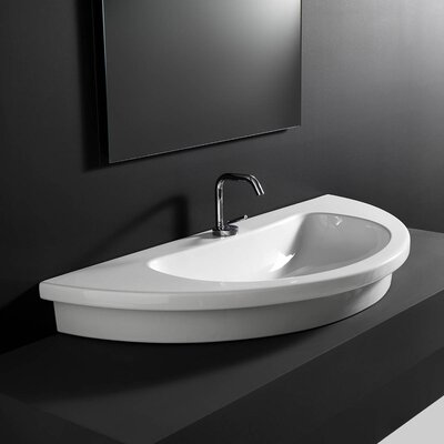 Kart Ceramic U-Shaped Vessel Bathroom Sink