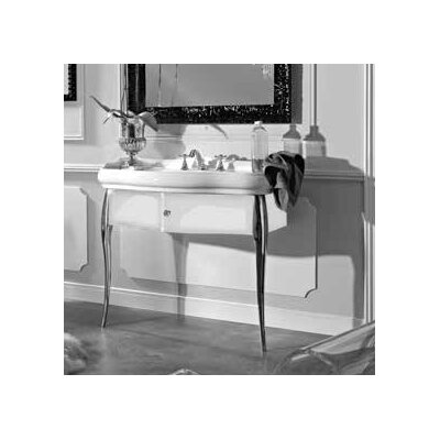Retro 39 Single Ceramic Bathroom Vanity Set Faucet Mount: Single Hole, Base Finish: Glossy White