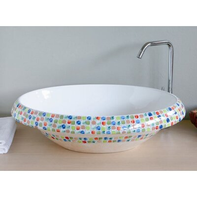 Ceramica I Ceramic Circular Vessel Bathroom Sink Sink Finish: ArcobaleNo Hole, Faucet Mount: Sink without single pre-drilled faucet hole