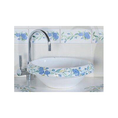 Ceramica I Circular Vessel Bathroom Sink Sink Finish: Romantica, Faucet Mount: Sink with single pre-drilled faucet hole