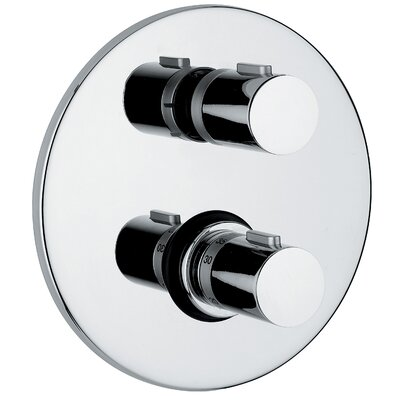 Linea Bathroom Thermostatic Shower Valve in Polished Chrome