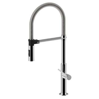 Chef Single Handle Deck Mounted Standard Kitchen Faucet Finish: Polished Chrome