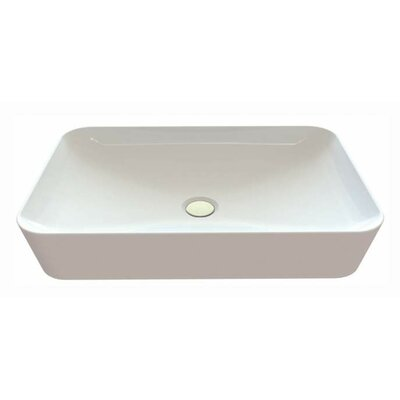 Ultra Ceramic Rectangular Vessel Bathroom Sink with Overflow
