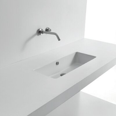 Whitestone Rectangular Undermount Bathroom Sink with Overflow