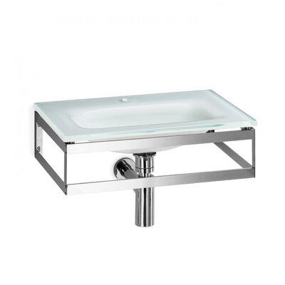 Pocia Glass 21 Wall Mount Bathroom Sink Sink Finish: White