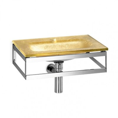 Pocia Glass 21 Wall Mount Bathroom Sink Sink Finish: Gold Leaf