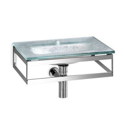 Pocia Glass 21 Wall Mount Bathroom Sink Sink Finish: Silver Leaf
