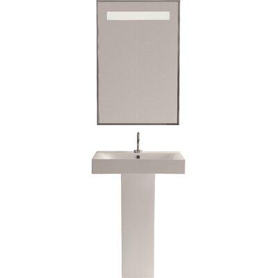 Cento Ceramic 35 Pedestal Bathroom Sink with Overflow