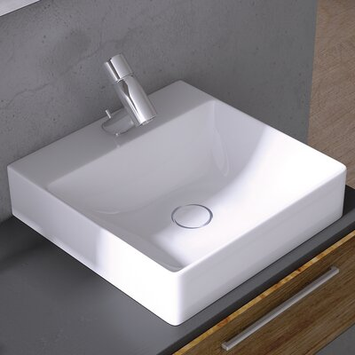 Vision Ceramic Square Vessel Bathroom Sink