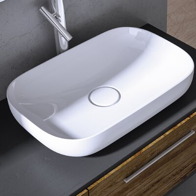 Vision Rectangular vessel Bathroom Sink with Overflow