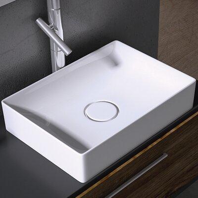 Vision Ceramic Rectangular Vessel Bathroom Sink