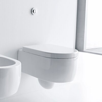 Flo Wall Hung Elongated Toilet Bowl