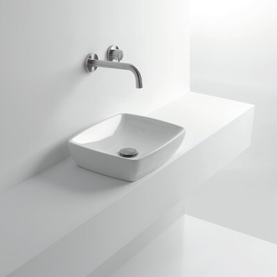 H10 Ceramic Rectangular Vessel Bathroom Sink