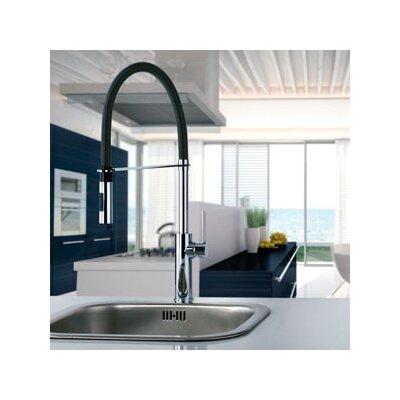 Light Single Handle Kitchen Faucet Finish: Polished Chrome/Matte Black