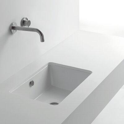 Whitestone Rectangular Undermount Bathroom Sink with Overflow