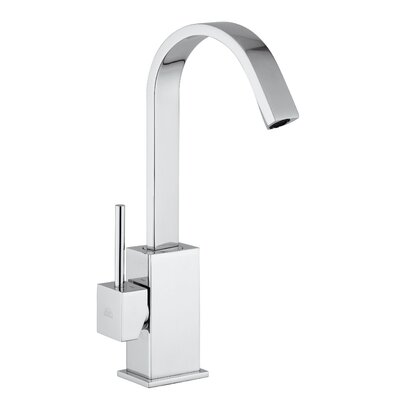 Level 14.7 One Handle Single Hole Kitchen Faucet with Swivel Spout Finish: Stainless Steel