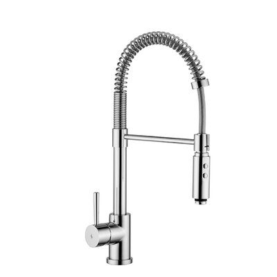 Evo Single Handle Kitchen Faucet Finish: Stainless Steel