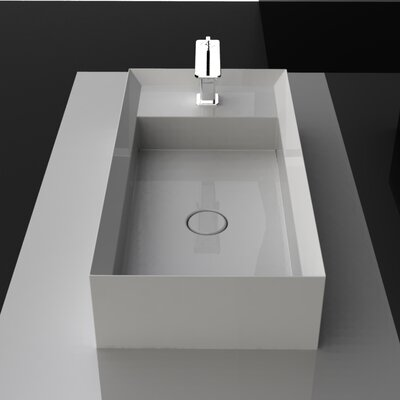 Cut Rectangular Vessel Bathroom Sink