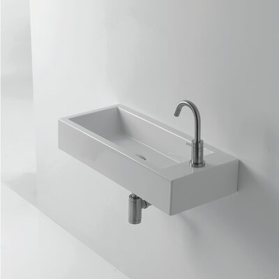 Whitestone Hox 28 Wall mountedBathroom Sink with Overflow