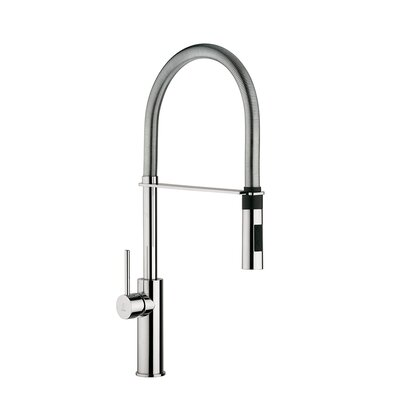 Light Single Handle Deck Mounted Kitchen Faucet with Dual Spray Finish: Polished Chrome
