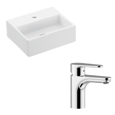 Quattro Ceramic Rectangular Vessel Bathroom Sink