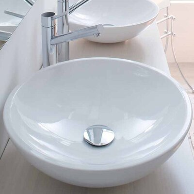 Touch Ceramic Circular Vessel Bathroom Sink
