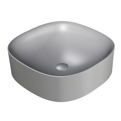 Wild Square Vessel Bathroom Sink with Overflow