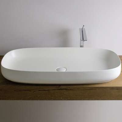 Seed Ceramic Oval Vessel Bathroom Sink Sink Finish: Glossy White