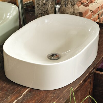 Wild Ceramic Rectangular Vessel Bathroom Sink
