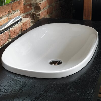 Wild Ceramic Oval Drop-In Bathroom Sink