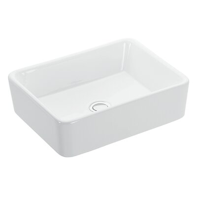 Touch Ceramic Rectangular Vessel Bathroom Sink