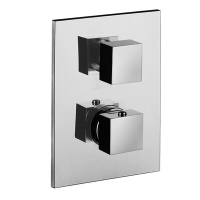 Level Concealed Thermostatic Three Outlet Diverter Knob Shower Faucet Trim