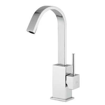 Lever Single Hole Bathroom Faucet with Single Handle Finish: Polished Chrome