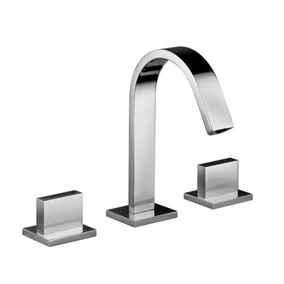 Lever Widespread Bathroom Faucet with Push Handle Finish: Polished Chrome