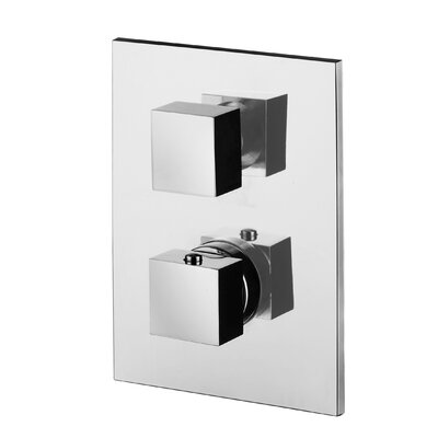 Level LEQ Complete Concealed Thermostatic Faucet Trim with 2-Outlet Diverter Finish: Polished Chrome