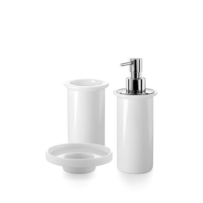 Saon Bathroom Accessories Set Finish: Frosted Glass