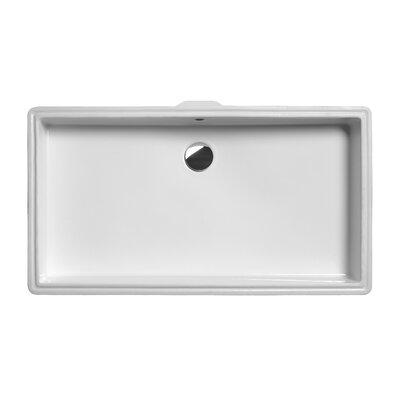GSI Quadro New Ceramic Rectangular Undermount Bathroom Sink with Overflow