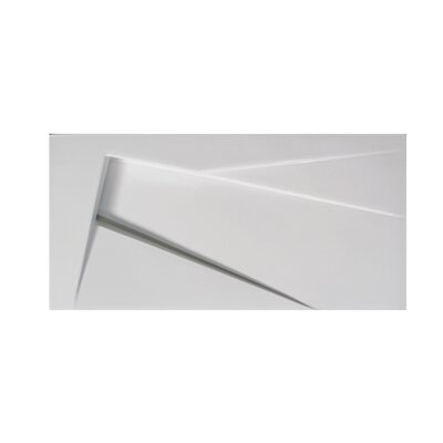 Ceramica 25.6 Wall Mount Bathroom Sink Sink Finish: White, Faucet Mount: Single Hole