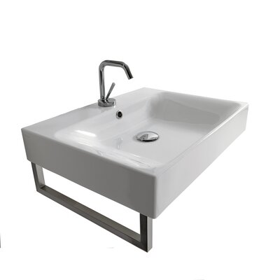 Cento Ceramic Ceramic Square Vessel Bathroom Sink