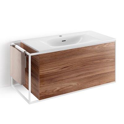 Gerla 39 Single Bathroom Vanity Set Faucet Mount: With Faucet Hole, Base Finish: Walnut