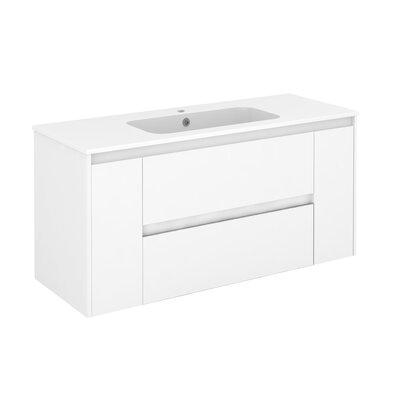 Ambra 47 Single Bathroom Vanity Set Base Finish: Gloss White