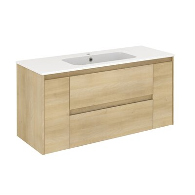 Ambra 47 Single Bathroom Vanity Set Base Finish: Nordic Oak