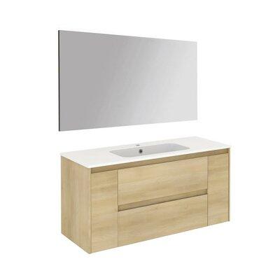 Ambra 47 Single Bathroom Vanity Set with Mirror Base Finish: Nordic Oak