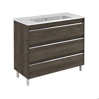 Belle 40 Single Bathroom Vanity Set Base Finish: Samara Ash