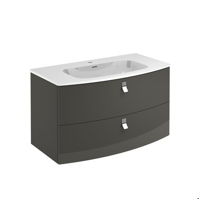 Rondo 39 Single Bathroom Vanity Set Base Finish: Anthracite