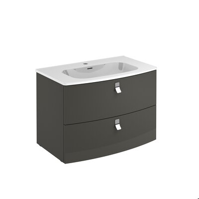 Rondo 32 Single Bathroom Vanity Set Base Finish: Anthracite