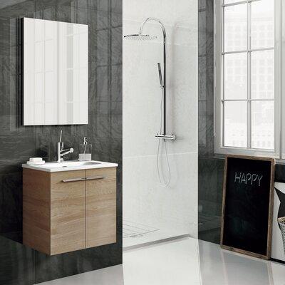Start 20 Single Bathroom Vanity Set with Mirror Base Finish: Sandy Walnut